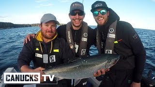 On a Boat With Jacob Markstrom and Sven Baertschi