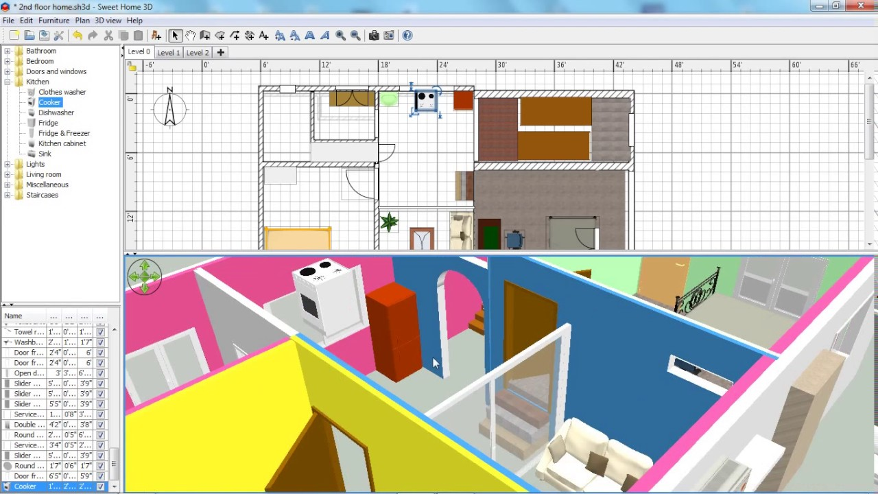 Sweet home 3d tutorial for beginner be a home designer for Sweet home 3d mobili