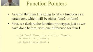 Intro to C Programming - Pointers to Functions