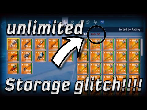 Unlimited storage GLITCH Fortnite Save The World