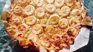 Овсяная запеканка с мёдом и бананами