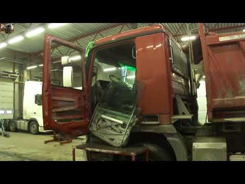 Снятие стеклоподъёмника Mercedes Actros MP2 Window Regulator Replacement