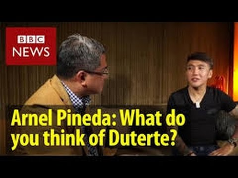 Arnel Pineda explains to the international media why he supports President Duterte