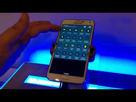 "Samsung Galaxy S5 Smartphone 4G LTE 5.1"" HD Screen 16 MP Cam Hands-on 4-16-14"