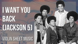 EASY Violin Sheet Music: How to play I Want You Back by Jackson 5