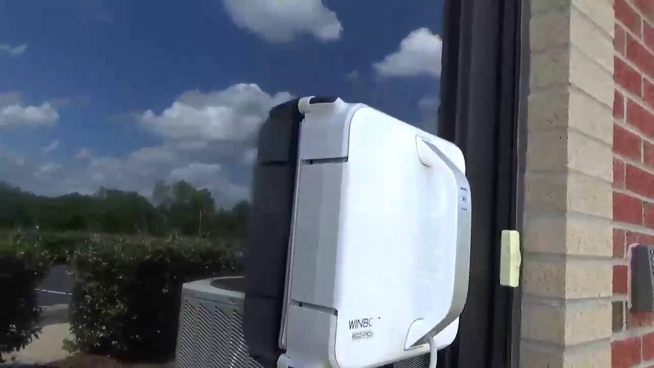 Ecovacs WINBOT 930 robot cleans really dirty pitched skylight .