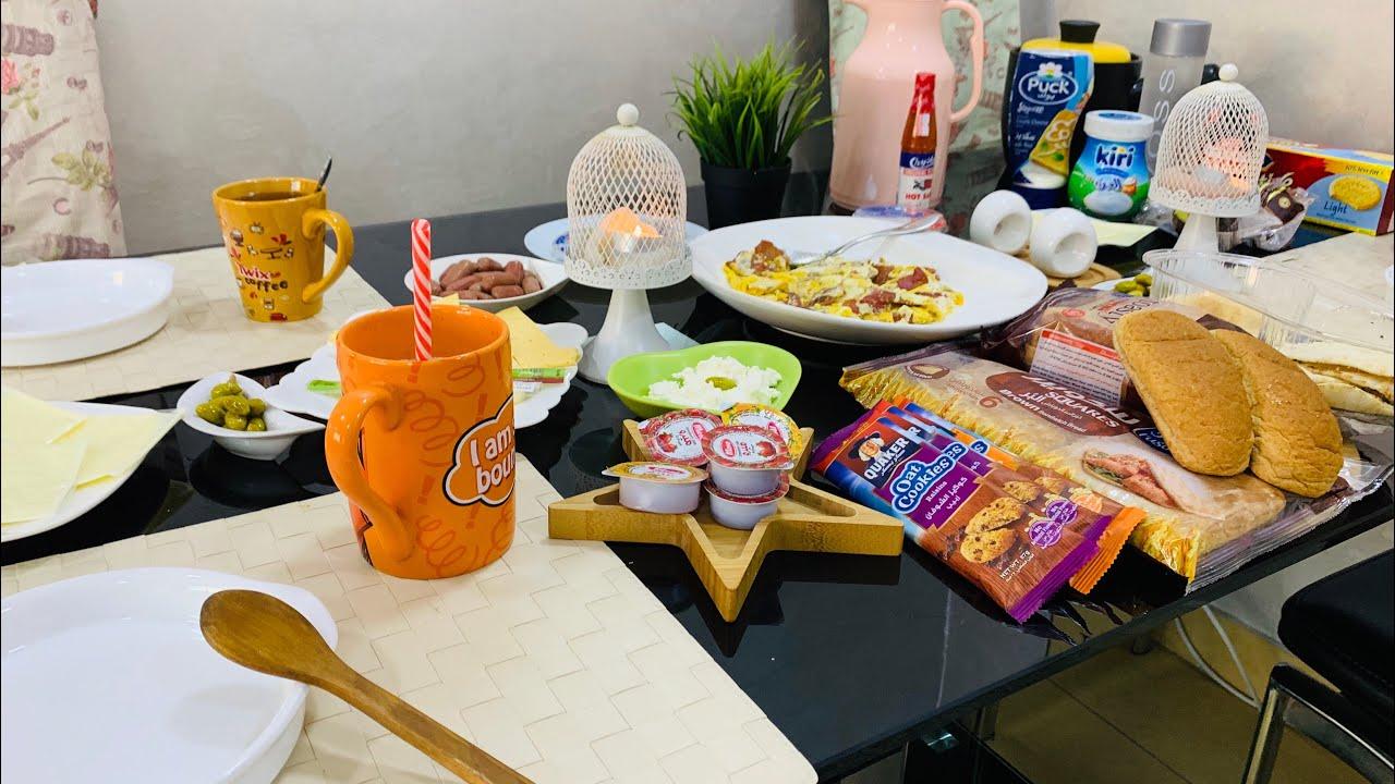 فطور صباحي سهل وسريع طريقه تحضير فطور تركي وتجهيز طاوله الطعام