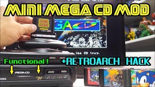 SEGA MEGA-CD Mini mod preview + Retroarch HACK test on Sega Genesis Mini