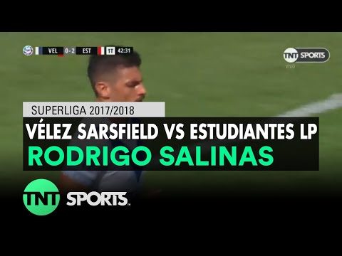 Rodrigo Salinas (1-2) Vélez Sarsfield vs Estudiantes LP | Fecha 21 - Superliga Argentina 2017/2018