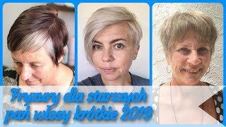 20 pomysłów 💗 na ładne fryzury dla starszych pań włosy krótkie 2019