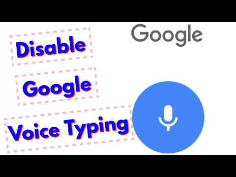 How To Turn Off/Disable Google Voice Typing(Voice Search) In