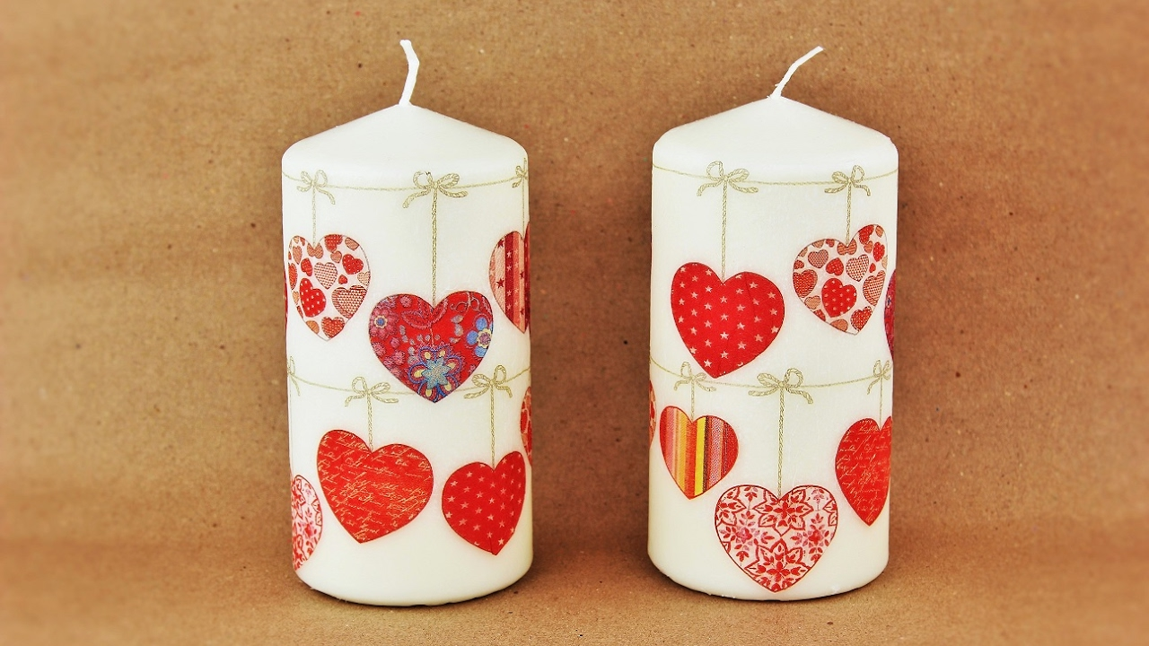 How to make a decoupage candles - Decoupage tutorial ...