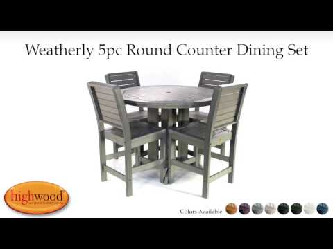 Weatherly 5pc Round Counter Height Dining Set AD-CNW48