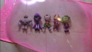 Teen Titans GO! Robin, Raven, Beast Boy, Starfire, Cyborg HUGE Slime Bubble!
