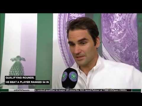 Federer vs. Willis Post Match Interview - Wimbledon 2016