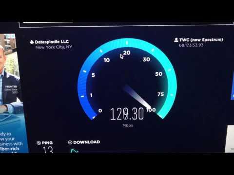 Spectrum 300Mbps Speedtest
