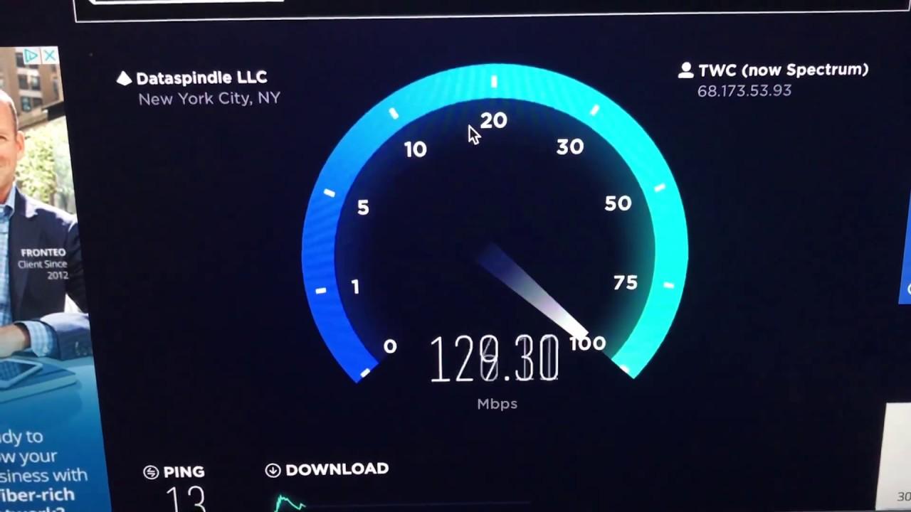 Spectrum 300Mbps Speedtest - YouTube