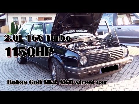 Brutal Golf Mk2 1150HP 16V Turbo Acceleration from Boba-Moto