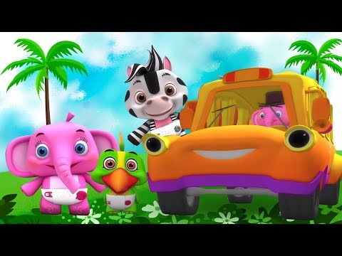 Wheels On The Bus | Song for Kids | Kindergarten Nursery Rhymes for Babies by Little Treehouse