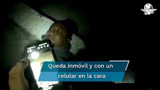 En un escenario al aire libre el gobernador de Guanajuato presentó el video en el que se observa la incursión de los agentes en la finca donde se ocultaba el líder del Cártel Santa Rosa de Lima