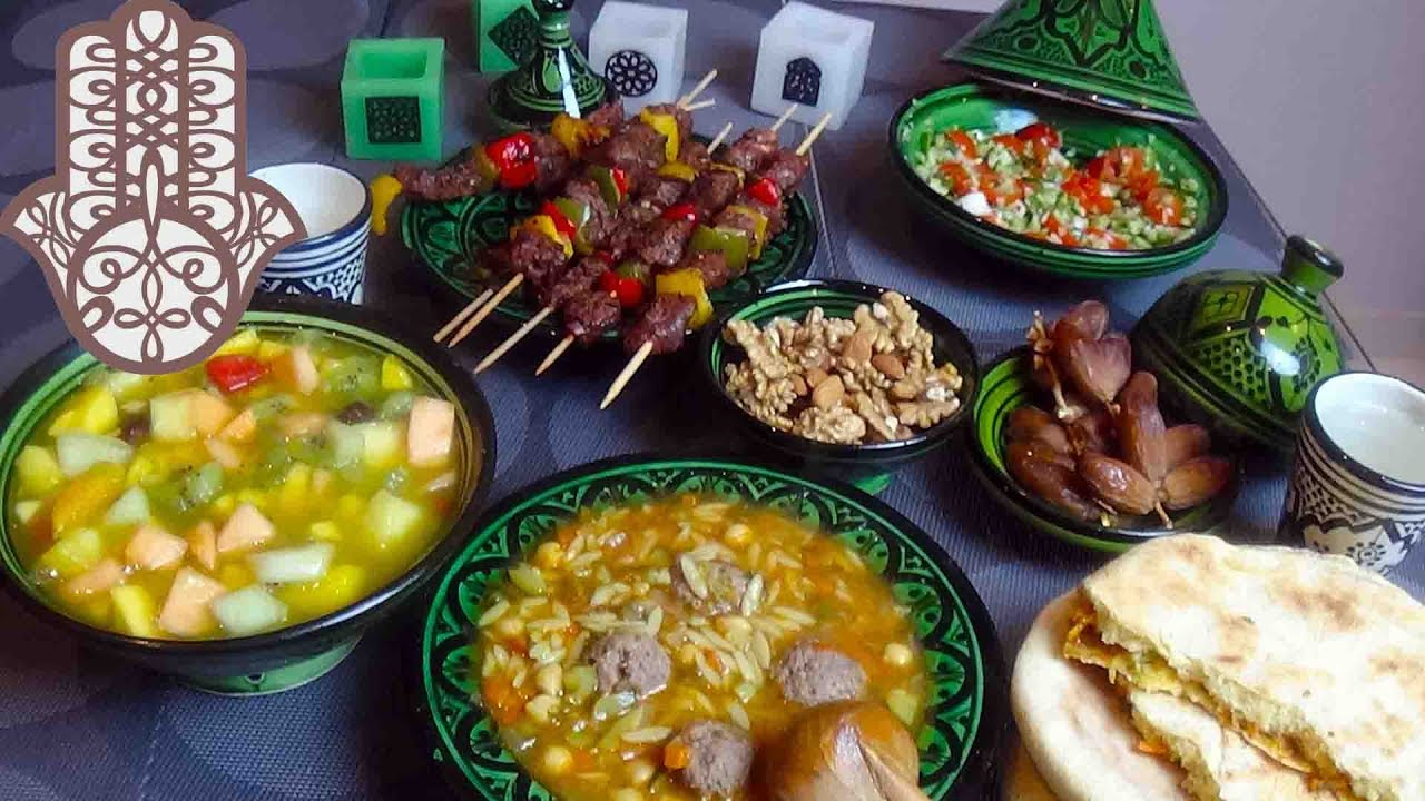 Table Repas 2 Personnes menu du ftour du ramadan facile