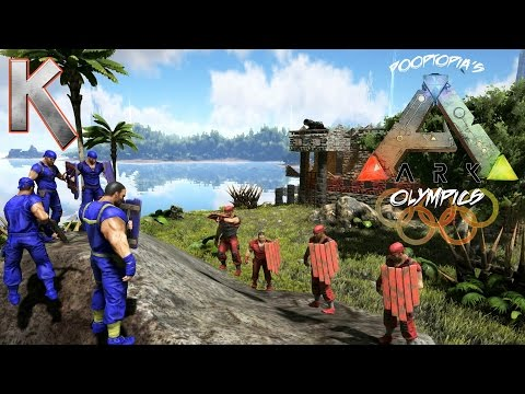Pooptopia - S1E93 ArkOlympics - PVP Arena Battles! - Ark Survival Evolved