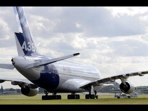 Vol d'entraînement de l'Airbus A380 au Salon du Bourget 2017