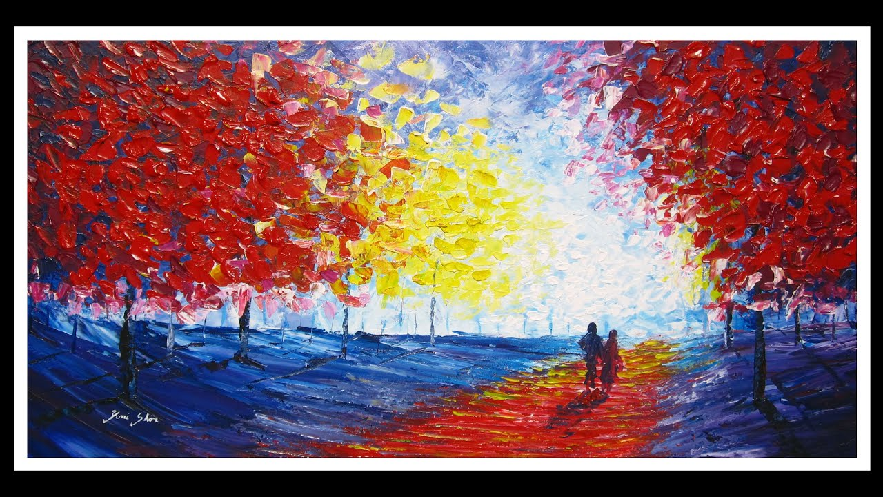 Palette knife painting in acrylics by yoni shor youtube for How to paint with a palette knife with acrylics