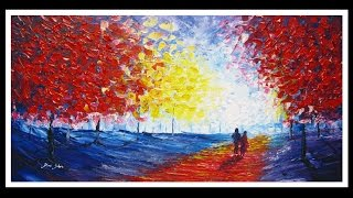 Palette Knife Painting in Acrylics by Yoni Shor