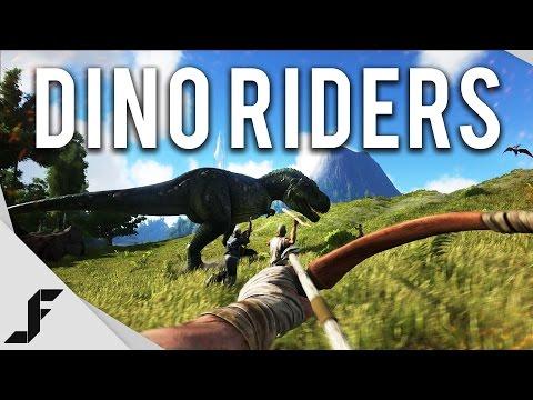 DINO RIDERS! - Ark Survival Evolved