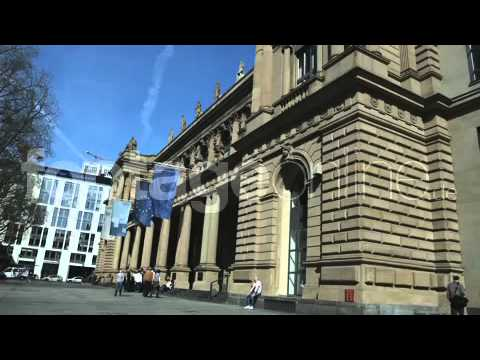 Frankfurt Stock Exchange External View footage_000116