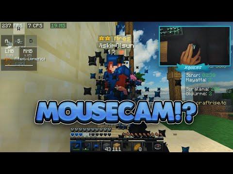 Jitter Click Yaptım! - Efsane Mousecam! -craftrise Skywars