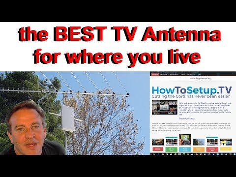 LIVE, LOCAL, FREE TV - How to pick a TV antenna for where you live.
