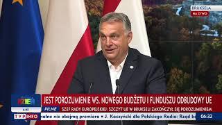 Konferencja prasowa premiera Polski i premiera Węgier po unijnym szczycie w Brukseli