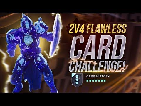 DESTINY 2: 2V4 FLAWLESS CARD CHALLENGE ON MIDTOWN