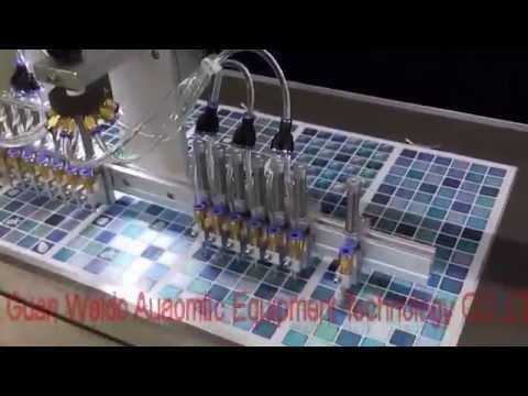 Fast dispensing 2 component resin meter mix dispensing for Epoxy Doming mosaic tile backsplash