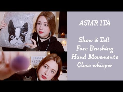 ASMR 😴🌸 tag 100 domande, hand movement, show & tell , close whisper
