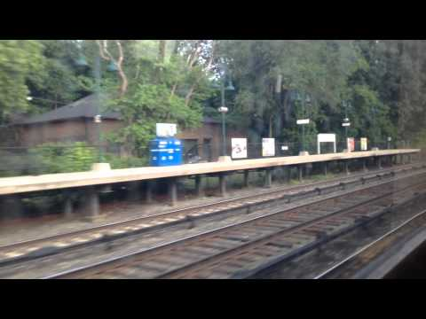 Metro-North train ride from Ossining to University Heights. Hudson Line