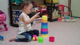 Baby Stacking Cups with One Year