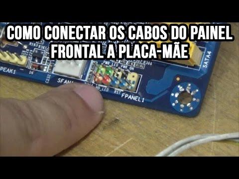 Como conectar os fios do gabinete na placa-mãe do computador (botão liga, botão reset e LEDs)