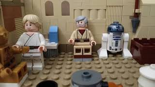 Obi-Wan recalls the Clone Wars to Luke (LEGO Stop Motion)