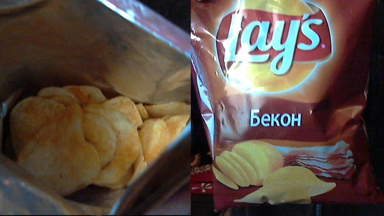 Чипсы Lay's Бекон - YouTube