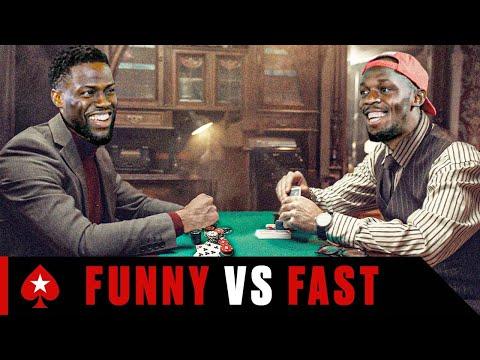 Kevin Hart Plays Usain Bolt at Challenge Poker | Part 1 | PokerStars