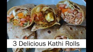 Kathi Roll Recipe | Veg Kathi Roll Recipe | Chicken Kathi Roll Recipe | Paneer Kathi Roll Recipe