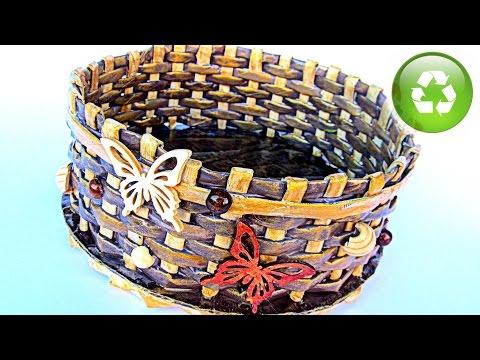 DIY: Cestas de papel periódico. Newspaper baskets