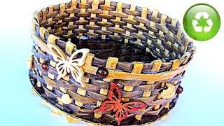 #DIY: Cestas de periódico. Newspaper basket. #Gustamonton