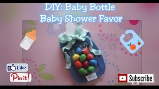 Gambar cover DIY: Baby Bottle Baby-Shower Favor (for Mammies SimmpleLifee) collab with Maggie Reid
