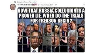 Trump Tweets Pic of Rod Rosenstein Behind Bars for Treason