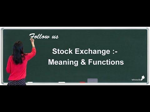 Stock Exchange Chapter 10 Class 12 Business Studies