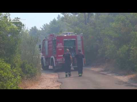 Forest Fires Continue To Threaten Montenegro's Coast